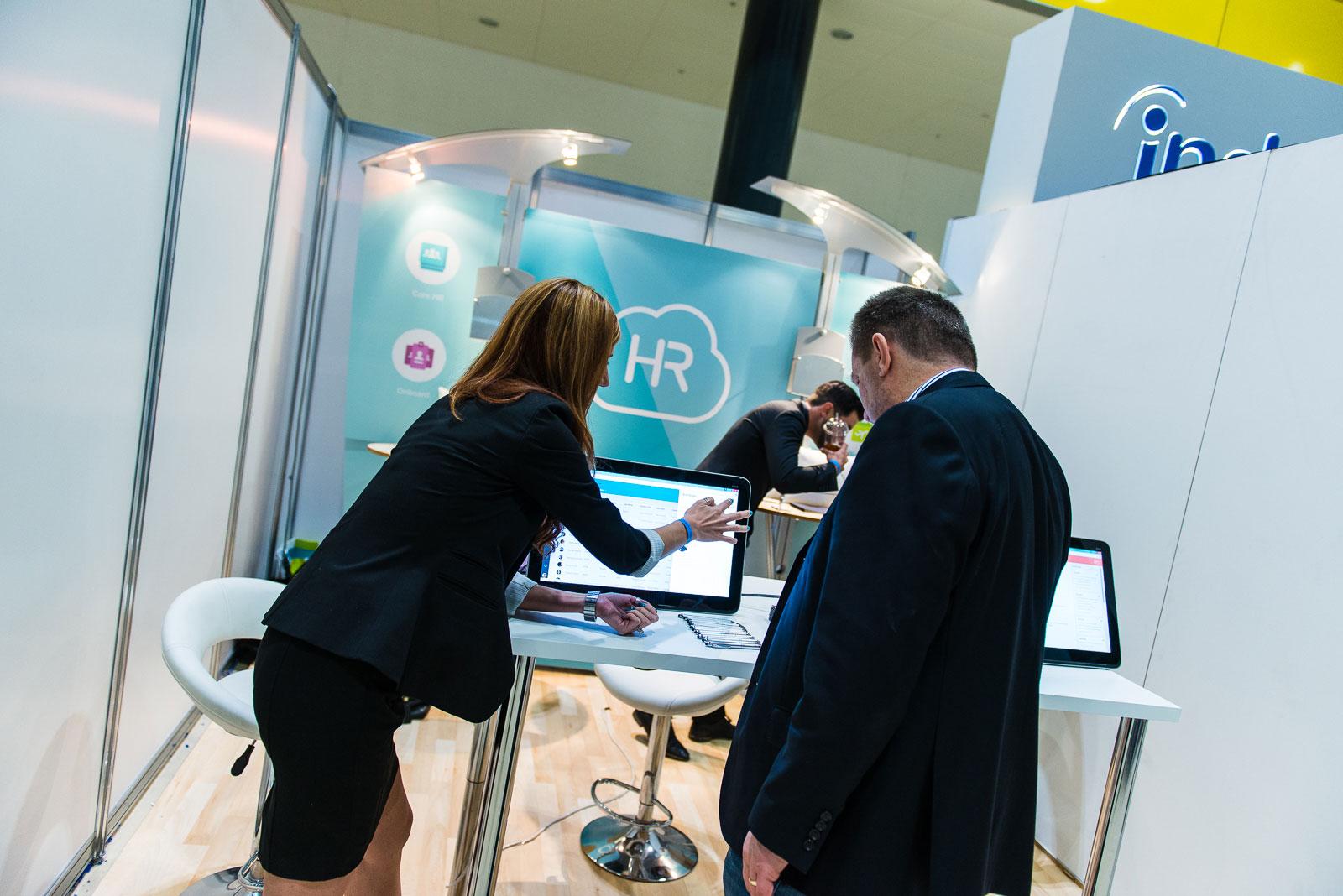 Pamela Kubiak, HR Cloud Product Manager, demos HR Cloud's Onboard and Core HR solution.