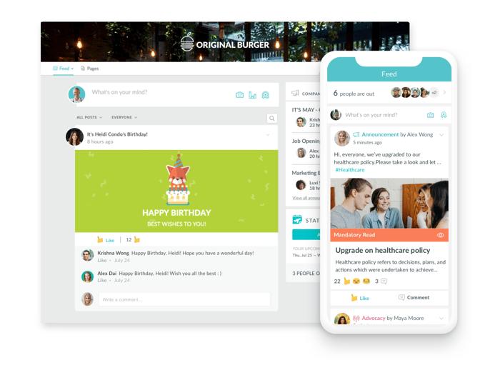 A modern social intranet