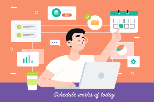 2. Letting the employees create their own work-schedule: