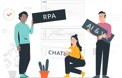 HR teams enabled with RPA, AI, Chatbots, and VR