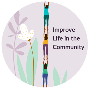 #4. Highlight those who improve life in the community.