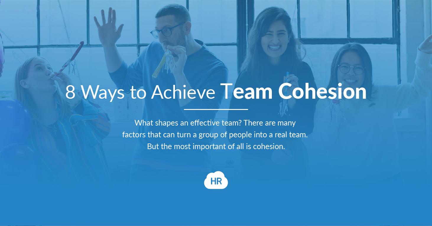 8 Ways to Achieve Team Cohesion