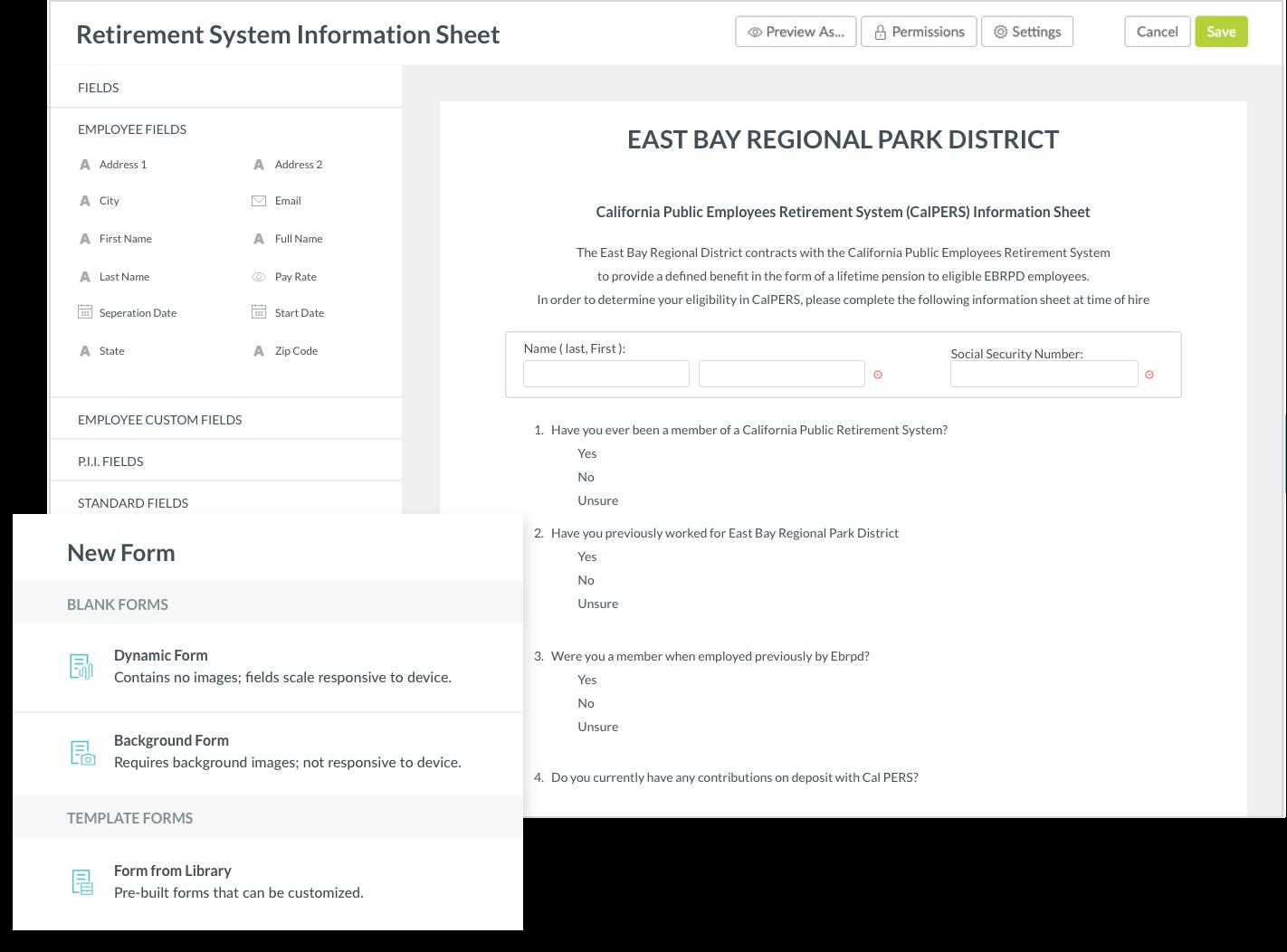 Retirement system information sheet
