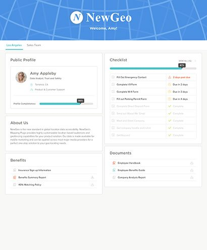 digital new hire software screenshot
