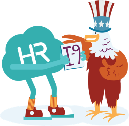 HR Cloud icon submitting compliant I-9 form