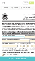 built-in I9 and E-verify forms