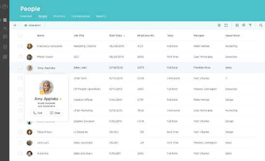 employee and company directory screenshot