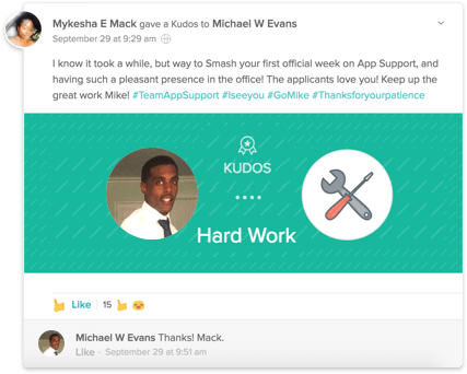 Social Recognition & Rewards with Kudos